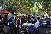 Bankstown. New South Wales. AUSTRALIA. 29th July 2017. People enjoying the Bankstown Bites Festival 2017 29th July - Stock Image