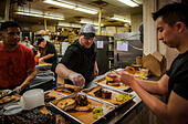 Pecan Lodge Restaurant, delivery zone, Dallas, Texas. - Stock Image