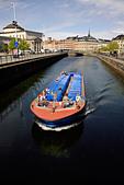 Canal trip boat, Gammel Strand canal, Copenhagen, Denmark,