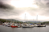 Boats in Dingle Harbour on a stormy day, Republic of Ireland
