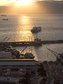 Sunset over The Bay of Gibraltar Shipyard, Gibraltar, Europe