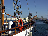 Dawn Approach is a traditional wooden sailing ship built in Scotland in 1921
