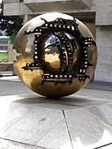 Copy of Sfera Conserva conservation Sphere sculpture, Trinity College, Dublin, Republic of Ireland