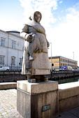 Fishwife Statue (Fiskerkone) Gammel Strand, Copenhagen, Denmark,
