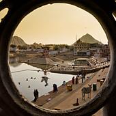 view-of-ghandi-ghat-through-round-window