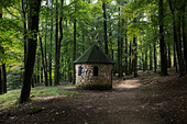 Brick hut in Coopers Rock State Forest, West Virginia - Stock Image