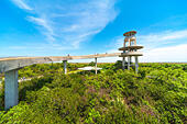 Shark Valley Everglades Visitors Observation Tower Everglades National Park Florida US - Stock Image
