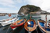 Fishing village of Sant'Angelo, Serrara Fontana, Ischia Island, Gulf of Naples, Campania, Southern Italy, Italy, - Stock Image