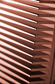 pink metal heat sink computer hardware - Stock Image