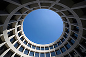 The Hirshhorn Museum on the National Mall in Washington DC - Stock Image
