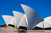 Sydney Opera House on Bennelong Point Sydney NSW Australia - Stock Image