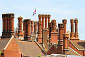 Chimneys on Hampton Court Palace - Stock Image