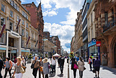 Shops on Buchanan Street in the city centre, Glasgow, Scotland, UK - Stock Image