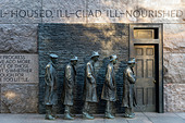'The Bread Line' sculpture by  George Segal depicting the Great Depression, Franklin Delano Roosevelt memorial, - Stock Image