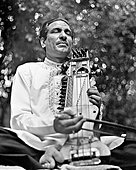 Ustad Sabri Khan Sahib, photographed in Los Angeles in 1968 while on tour with Ravi Shankar's Festival from - Stock Image
