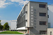 Germany, Saxony-Anhalt, Dessau-horse-lukewarm, Bauhaus, - Stock Image