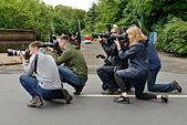Photographers line up to capture images for the local news and media in the UK - Stock Image