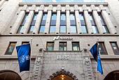 Helsinki Stock Exchange Building, Nasdaq Helsinki, Helsingin Pörssi, Helsingforsbörsen. - Stock Image