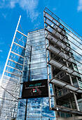 Sanoma Media Corporation Headquarters in the Sanomatalo building in Helsinki Finland. - Stock Image