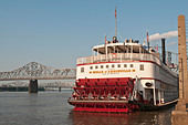 Kentucky, Louisville, Belle of Louisville, Ohio River cruise tour boat, built 1914 - Stock Image
