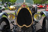 1930s Bugatti at the French and Italian motoring festival at Prescott Hill Climb,Gloucestershire, UK - Stock Image