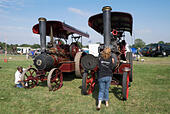 two-john-fowler-steam-engines-being-prep