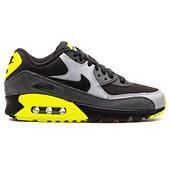 Nike Air Max 90 mesh (GS) Gioventù grigio nero e giallo cuoio ...
